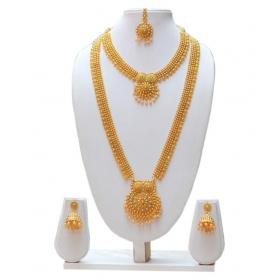 Golden Coppper Necklace Set