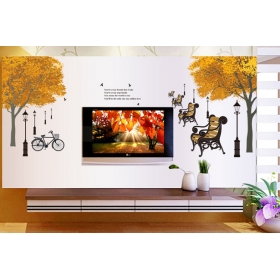 Df5073 Vintage Village Road Nature Wall Sticker  Jaamso Royals