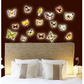 Y0024 Butterfly  Radium/glow In The Dark  Wall Sticker  Jaamso Royals