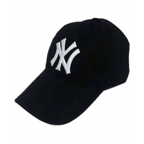 Black Cotton Ny Snapback Cap - Pack Of 1