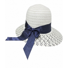 White Polyester Fidora Hat For Women