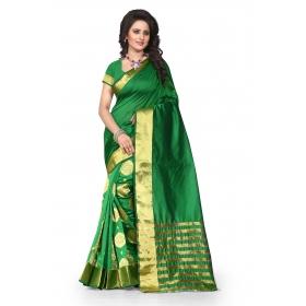 Tamasha Gehana Green Saree