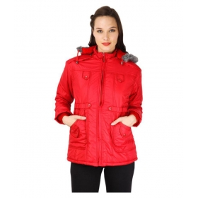 Polyester Blend Hooded Jackets