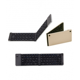 F66 Foldable 66 Keys Keyboard Golden Bluetooth Desktop Keyboard
