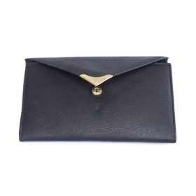 Leather Black Women's Long Wallet