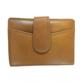 Tan Leather Regular Wallet For Women