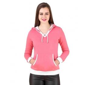 Pink Fleece Hooded For Women