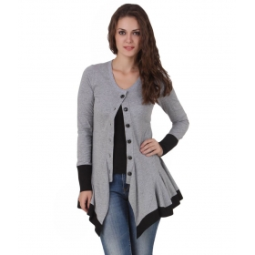 Cotton Blend Buttoned Cardigans