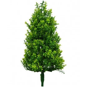 The Fancy Mart Bonsai Artificial Fabric Christmas Tree Green Plants Bunch -1 Ft (pack Of 1)