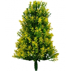 The Fancy Mart Artificial Bonsai Fabric Christmas Tree Yellow Artificial Stems-1 Ft (pack Of 1)