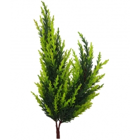 The Fancy Mart Bonsai Twin Fabric Christmas Tree Plant & Green Artificial Stems-1.5 Ft (pack Of 1)