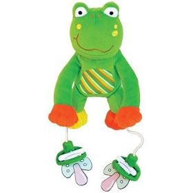 The Interactive Pacifier Toy Holder By Pullypalz Includes Puddles The Frog