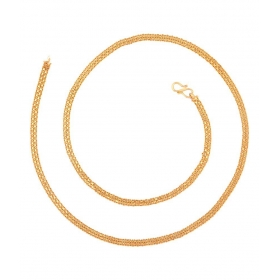 22k Gold Plated Slim Long Chain