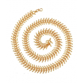 Traditional 22k Gold Plated Leaf Mala Chain