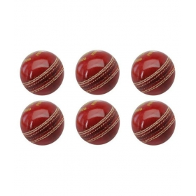 Cricket Leather 2pc Ball Set Of 6 With Free Skipping Rope