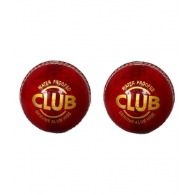 Set Of 2 Club Leather Cricket Ball 2 Part
