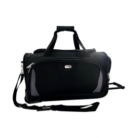 Timus Morocco Plus 65 Black 2 Wheel Duffle Luggage Trolley Bag For Travel ( Medium Check-in Luggage )