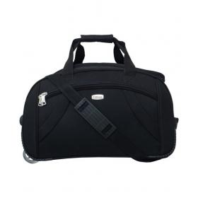 Timus Samprass 55 Cm Black 2 Wheel Duffle Trolley Bag For Travel (cabin -small Luggage)