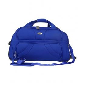 Timus Upbeat 65 Cm Ocean Blue 2 Wheel Duffle Trolley Bag For Travel (check In -medium Luggage)