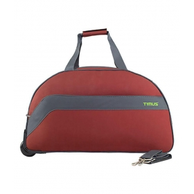 Timus Bolt 65 Cm Rust 2 Wheel Duffle Trolley For Travel (check-in Luggage)