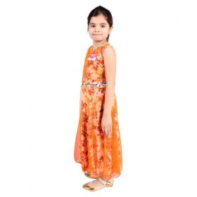 Girls Crepe Maxi/full Length