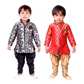 Multicolor Sherwani-pack Of 2