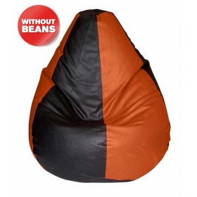 Xxl Bean Bag Cover In Black & Orange