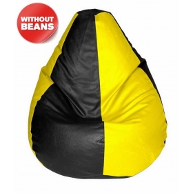 Xxl Bean Bag Cover In Yellow & Black