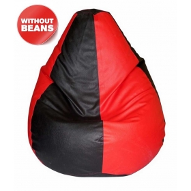 Xxl Bean Bag Cover In Red & Black