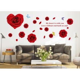 Ay9181 Red Roses  Nature Wall Sticker  Jaamso Royals