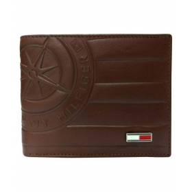Tommy Hilfiger Eyewear Leather Brown Fashion Short Wallet