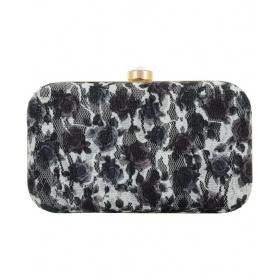 Handicraft Multi Fabric Box Clutch
