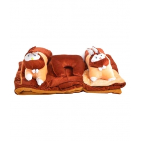 Brown Cotton ( 5 Pcs) Bedding Sets