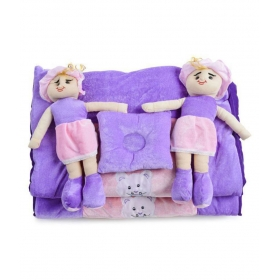 Purple Polyester ( 5 Pcs) Bedding Sets