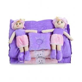 Purple Polyester ( 5 Pcs) Bedding Sets