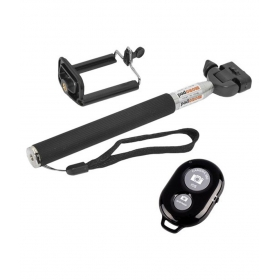 Selfi Stick With Bluetooth Remote - Black