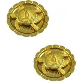 Feng Shui Meru ,shree Yantra On Tortoise In Plate Showpiece - 4 Cm Brass