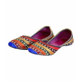 Crush Multi Color Flat Ethnic Footwear