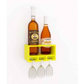 Wooden Hanging Wine Holder