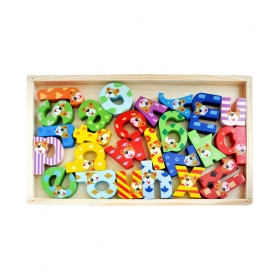 Wooden Chunky Abc Learning Blocks | Premium Wooden Made | Beautifully Crafted Brightly Coloured