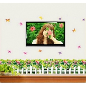 Ay7143 Green Flower Well Nature Wall Sticker  Jaamso Royals