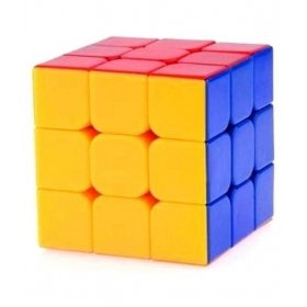 Multicolor Sticker Less Rubik's Cube For Kids