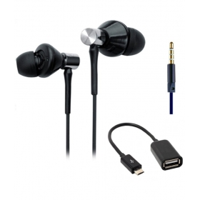 Ubon Ub-champ2 Earbuds Wired Earphones With Mic Black (with Otg Cable )