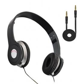 Ubon Ub1360 Over Ear Wired Headphone With Mic Black