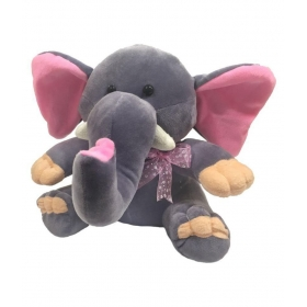 Ultra Baby Elephant Dark Grey Soft Toy 11 Inches