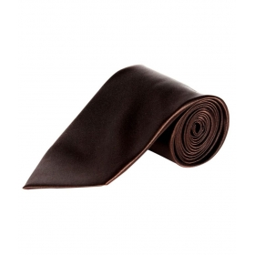 Uni Carress Brown Micro Fiber Formal Broad Tie For Men