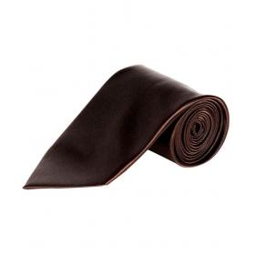 Uni Carress Brown Micro Fiber Formal Broad Tie For Men