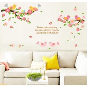 Ay7230 Dancing Birds Nature Wall Sticker  Jaamso Royals