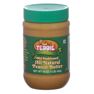 Teddie Usa All Natural Peanut Butter Smooth 450g