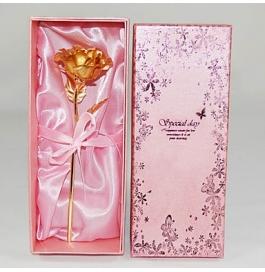 Valentine Special 24kt Gold Foil Rose 19cm